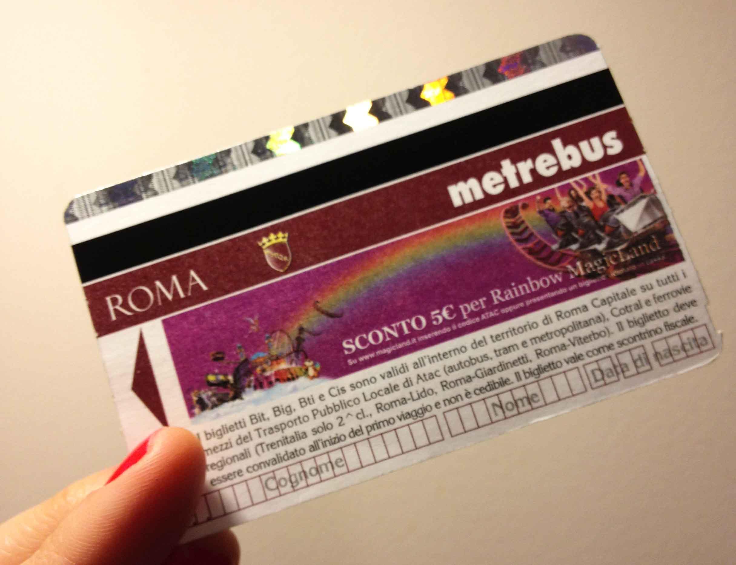 Проездной в метро Рима